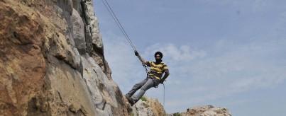 Rappelling Near Delhi NCR, Gurgaon at Camp Wild Dhauj