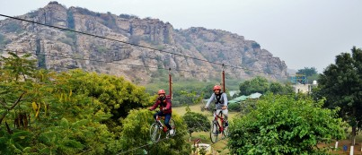 Sky Cycling at Camp Wild Dhauj
